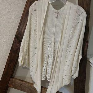 Woven Shrug Sweater